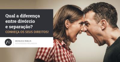 diferença entre divórcio e separação