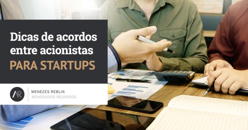 Dicas de acordos entre acionistas para Startups