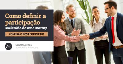 Como definir a participação societária de uma startup